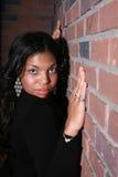 非洲裔美国人的俏丽的妇女 免版税图库摄影