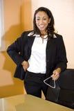 非洲裔美国人的办公室工作者年轻人 库存图片