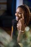 非洲裔美国人的可爱的妇女 免版税库存照片