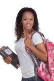非洲裔美国人的大学生妇女年轻人 库存照片