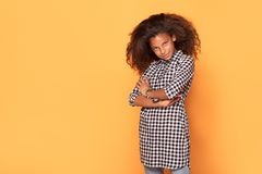 非洲裔美国人的女孩少年年轻人 库存照片