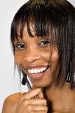 非洲裔美国人的女孩年轻人 免版税库存照片