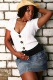 非洲裔美国人的女孩热姿势 库存图片