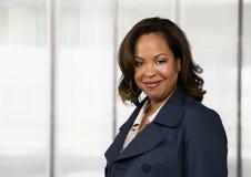 非洲裔美国人的女实业家 库存图片