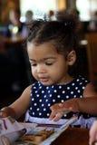 非洲裔美国人的女性小孩 免版税库存图片