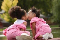 非洲裔美国人的孩子 免版税图库摄影