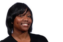 非洲裔美国人的微笑的妇女 图库摄影