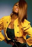 非洲裔美国人的时装模特儿。 免版税库存图片