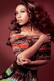 非洲裔美国人的时装模特儿。 免版税图库摄影