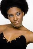 非洲裔美国人的时装模特儿 免版税库存照片