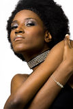 非洲裔美国人的时装模特儿 图库摄影