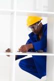 非洲裔美国人的木匠 免版税库存照片