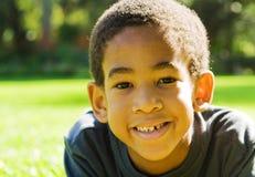 非洲裔美国人的男孩 免版税图库摄影