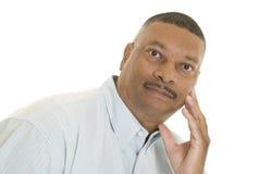 非洲裔美国人的男性纵向 库存图片