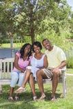 非洲裔美国人的系列父项&女孩子项 免版税库存图片