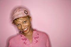 非洲裔美国人的纵向妇女 图库摄影