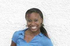非洲裔美国人的纵向妇女 免版税库存照片