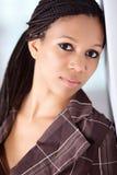 非洲裔美国人的美丽的女孩 库存照片