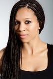 非洲裔美国人的美丽的女孩 免版税库存照片