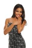 非洲裔美国人的美丽的妇女年轻人 免版税库存照片