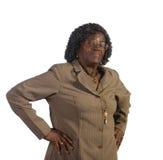 非洲裔美国人的老常设妇女 免版税库存图片