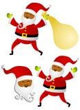 非洲裔美国人的艺术克劳斯夹子圣诞老人 向量例证