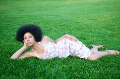 非洲裔美国人的草绿色设计 图库摄影