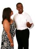 非洲裔美国人的通信夫妇 免版税库存图片