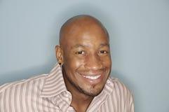 非洲裔美国人的顶头人射击 免版税图库摄影