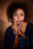 非洲裔美国人震惊妇女 免版税库存照片
