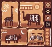 非洲设计元素集 库存照片