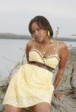 非洲诱人的妇女 免版税库存照片
