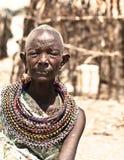 非洲部族妇女 免版税库存照片