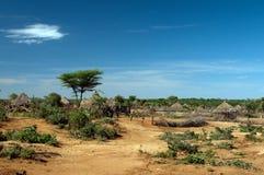 非洲部族小屋 免版税库存照片