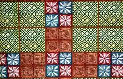 非洲部族艺术的材料 免版税库存照片