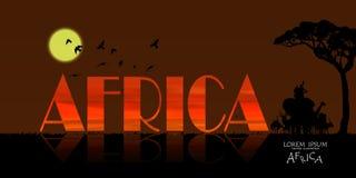 非洲野生生物背景传染媒介  库存图片