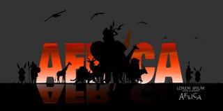 非洲野生生物背景传染媒介  免版税库存照片