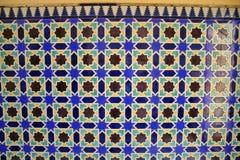 非洲铺磁砖的墙壁 库存照片