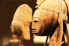 非洲雕塑木头 免版税库存照片