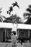 非洲非洲儿童志愿 免版税图库摄影