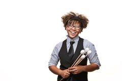 非洲音乐家年轻人 免版税库存图片