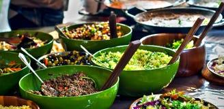 非洲食物厨房街道 免版税图库摄影