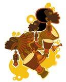 非洲鼓手 向量例证
