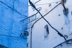 非洲,摩洛哥, chefchaouen,都市城市和房子 2013年 免版税库存照片