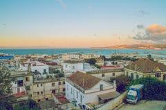 非洲,摩洛哥, chefchaouen,都市城市和房子 2013年 免版税库存图片