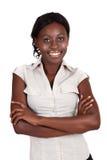 非洲amrican女实业家 图库摄影