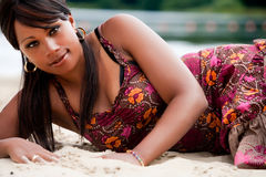 非洲beautifull妇女 免版税库存图片