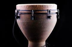 非洲bk黑色djembe鼓 免版税库存图片