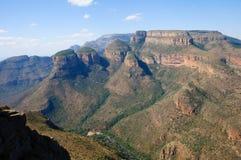 非洲blyde南峡谷的河 库存图片