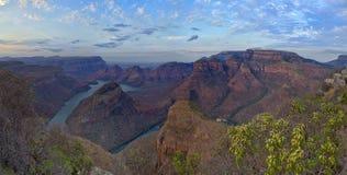 非洲blyde南峡谷的河 免版税图库摄影